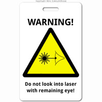 006 laser_warning_sign ID badge