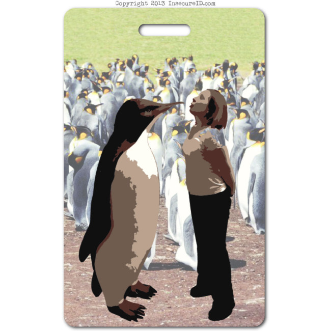 016 Penguin Kiss ID badge