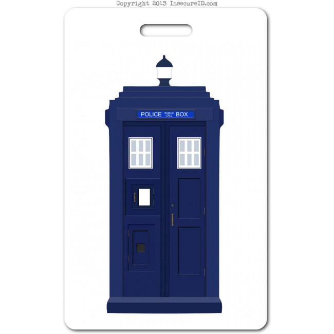 017 Blue Police Box ID badge