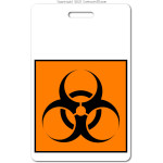 019 biohazard ID badge