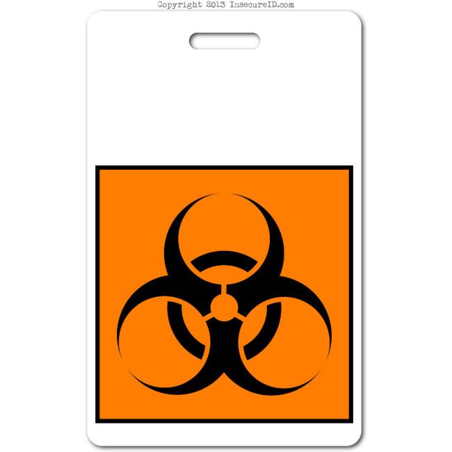 019 biohazard ID badge