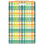 204 green plaid ID badge
