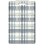 205 grey plaid ID badge