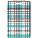 206 blue plaid ID badge
