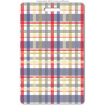 207 red plaid ID badge