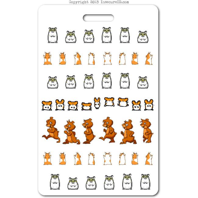 021 hamster dance ID badge