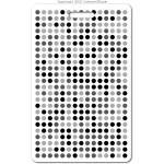 029 black digital dots ID badge