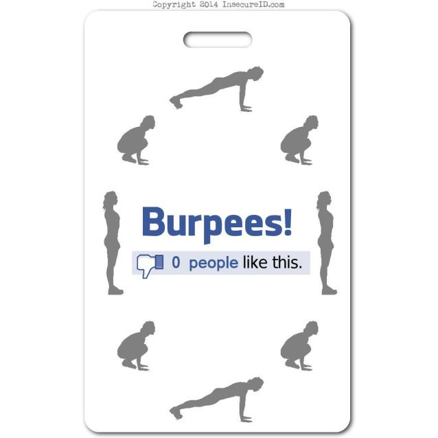 032 burpees ID badge