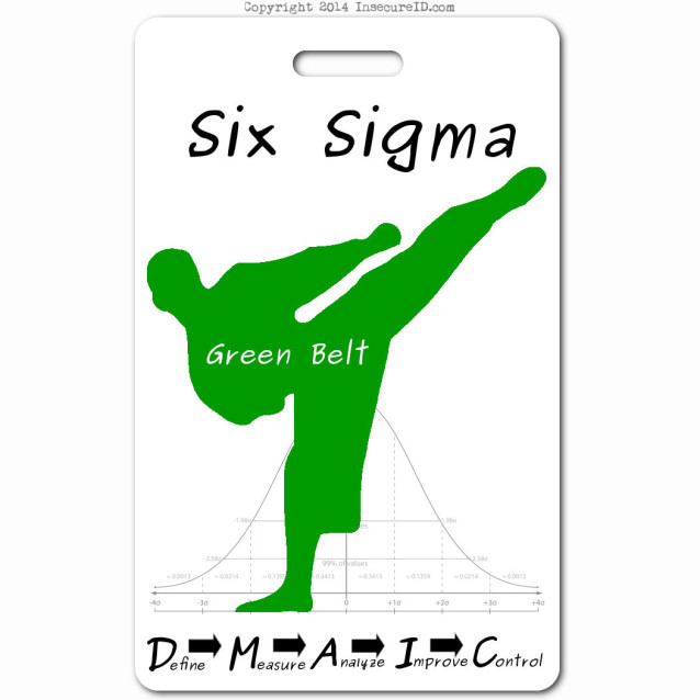 036 six sigma green belt ID badge