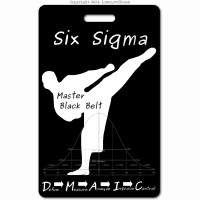 038 six sigma master black belt ID badge