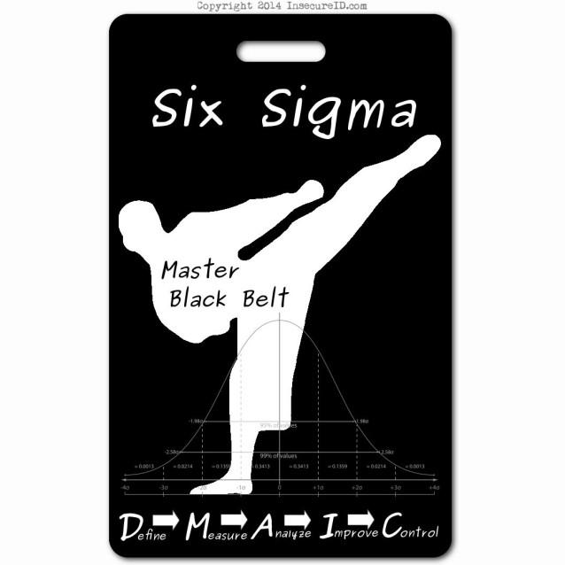 038 six sigma master black belt ID badge