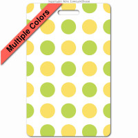 043 yellow green polkaDots ID badge_banner