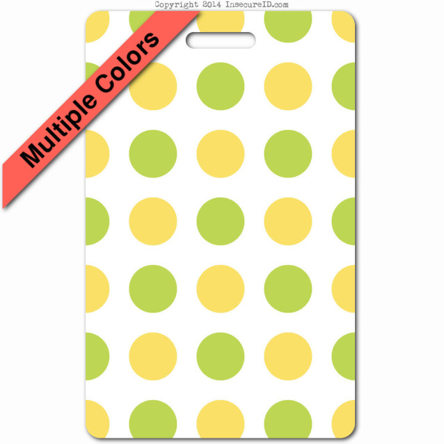 043 yellow green polkaDots ID badge_banner