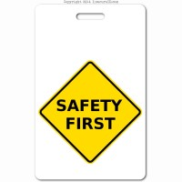 018a safety first ID badge